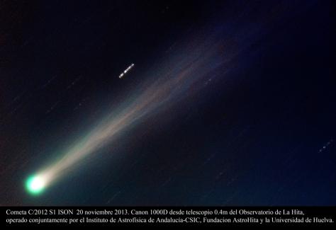 Astrohita-IAA-CSIC-UHU-20131120-Cometa-ISON-AstroHita_1384951337